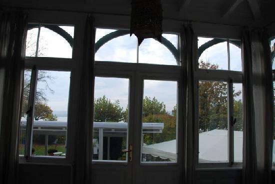 Hotel Villa Barleben am See: Sight from the veranda in bedroom 9