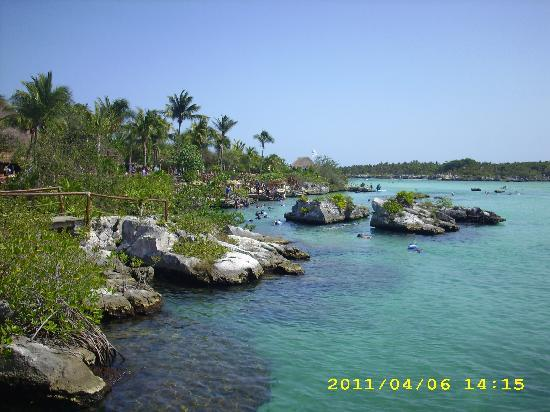Real Playa del Carmen: Xel-Ha , ein Ntrurschutzgebiet , wo Salz- und Süßwasser aufeinander trifft