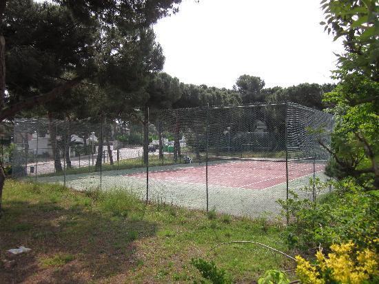 Palamos, Espagne : Le court de Tennis