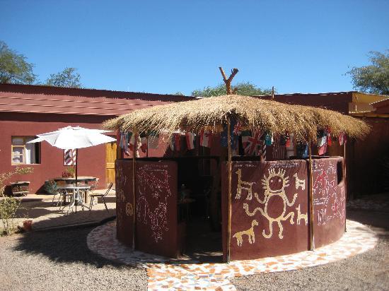 La Ruca Hostal: Courtyard