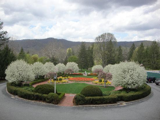 The Greenbrier: View From Greenbrier Resort Rear Entrance