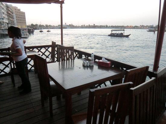 Bayt Al Wakeel: Blick vom Restaurant aud den Dubai Creek