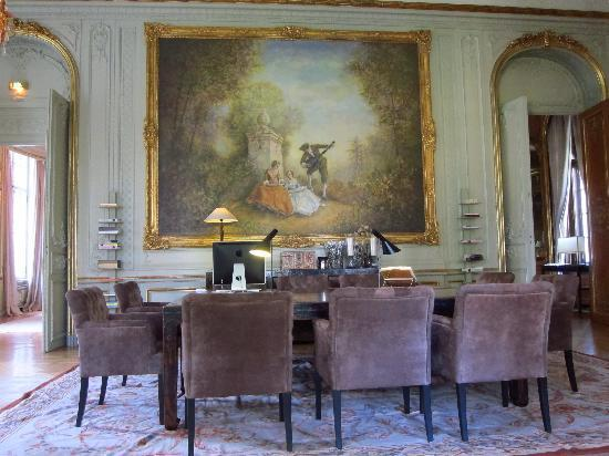 Patrick Hellmann Schlosshotel: The study.