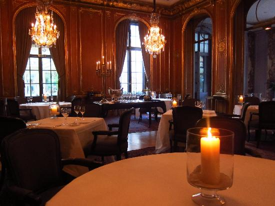 Patrick Hellmann Schlosshotel: the fine dining restaurant (I was early)