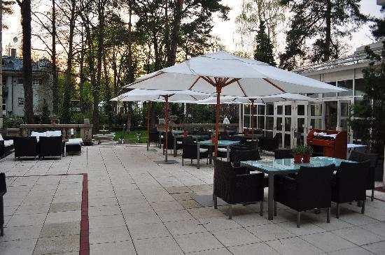 Patrick Hellmann Schlosshotel: a nice place for a drink or a snack when the weather is good
