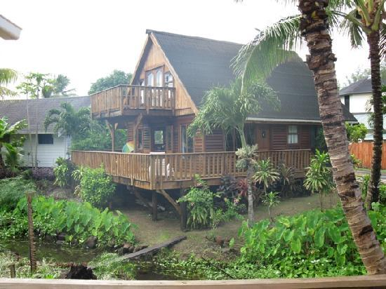 Manea Beach Villas: 3 Bedroom Garden Villa - We had 6 people in here. Looking from #6 Villa