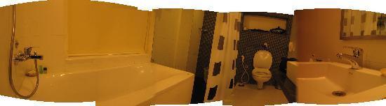 Minerva Grand Banjara : An amateur panorama pic of the bathroom