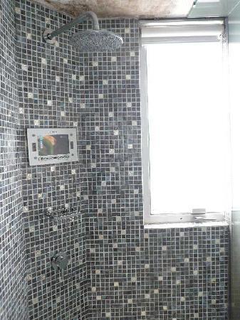 Acesite Knutsford Hotel: シャワー室の液晶TV
