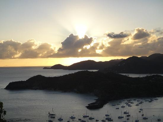 Antigua's Yepton Estate Cottages: Sunset from Shirley Heights