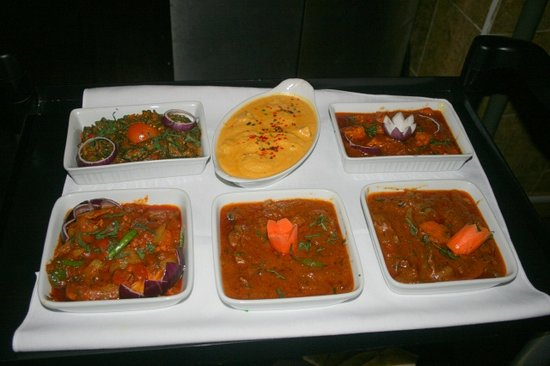 Indian Ocean: exotic indian menu