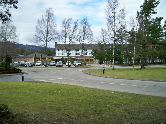 Front of hotel and car park