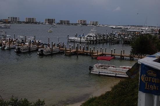 View from Gilligan's Seafood restaurant outdoor seating
