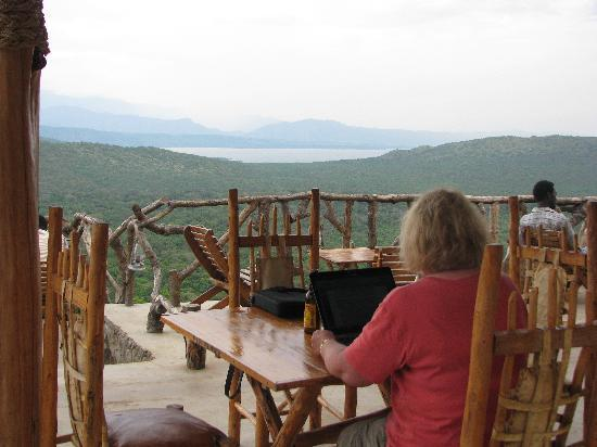 Arba Minch, Ethiopië: The restaurant - great view