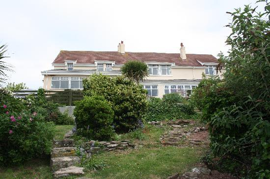 Bigbury-on-Sea, UK: Hotel from rear garden