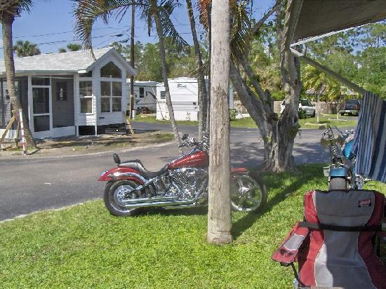 Naples / Marco Island KOA: Motorcycles always welcome