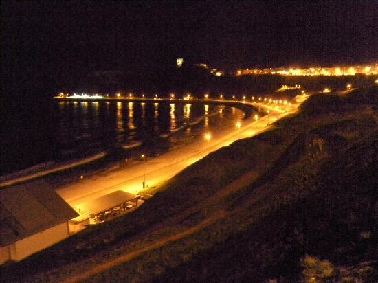 The Clifton Hotel - Scarborough: Lights of bay at night from Hotel.