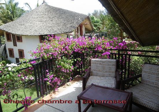 La Teranga Hotel & Villas: chambres par blocs de 4