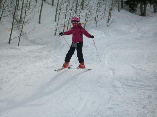 Sunlight Mountain Resort: Grand-daughter in Kiddie Terrian Park, This park is for little ones only