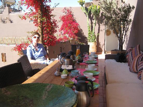 Riad Timila: Wonderful breakfast on the terrace