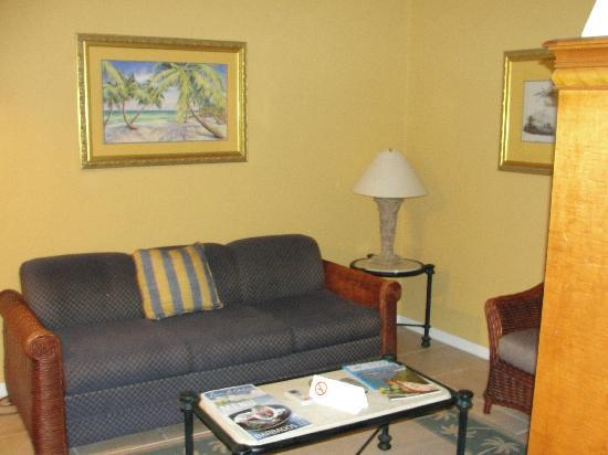 Divi Southwinds Beach Resort: The living area in our room