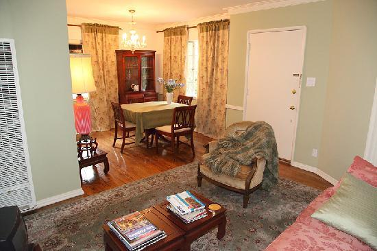 """The Inn at 657: This is one the sitting room  and dining area  of one of the apartment/suites of """"657""""."""