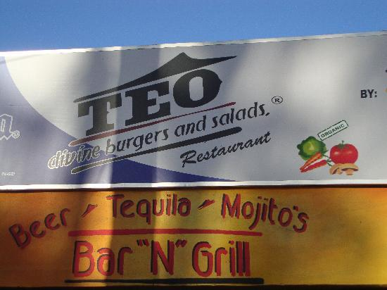 Teo Restaurant Bar And Grill : the sign to look for