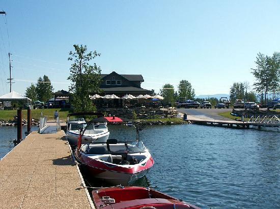 Sandpoint, ID : Dover Bay Cafe waterfront dining at the Dover Bay Marina