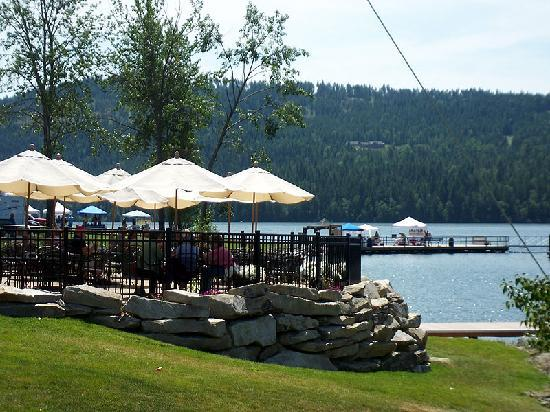 Sandpoint, ID: Enjoy waterfront dining at Dover Bay Cafe