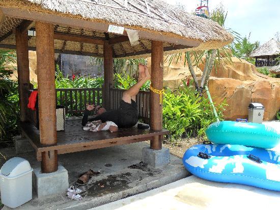 New Kuta Green Park: cabana for hire