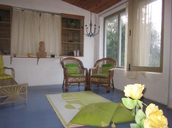 Moksha Retreat: cottage1.living room
