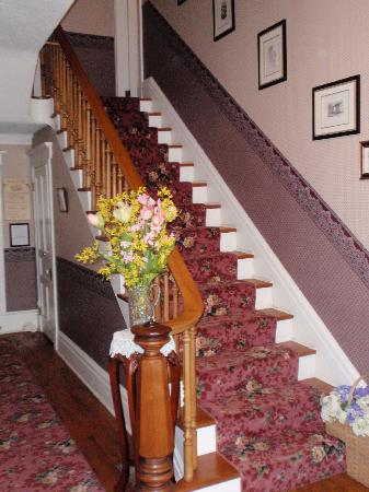 J. D. Thompson Inn Bed and Breakfast: Stairs to second floor where rooms are located.