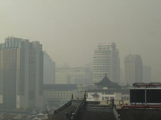 Ibis Shanghai Yu Garden: view through the window