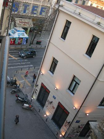 Cecil Hotel: street view from room