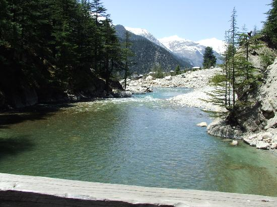 Kinner Camp Sangla: River below the tents at 100 feets