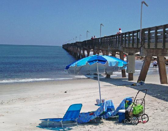 Fernandina Beach, Floride : Fort Clinch State Park Half Mile Long Fishing Pier