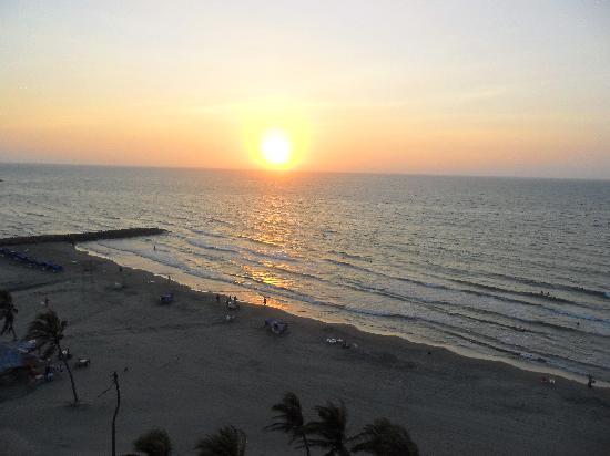 Hotel Regatta Cartagena: ATARDECER!!! VISTA DESDE LA HAB