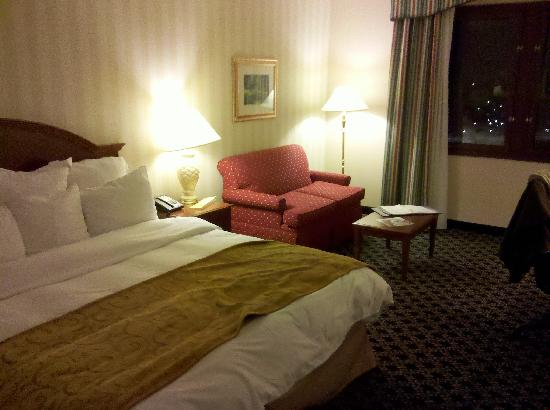 Spartanburg Marriott : Room with single king bed
