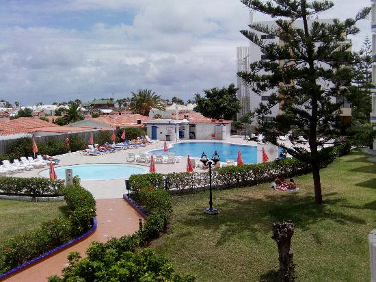 Tamaran Apartments: View of pool from the balcony