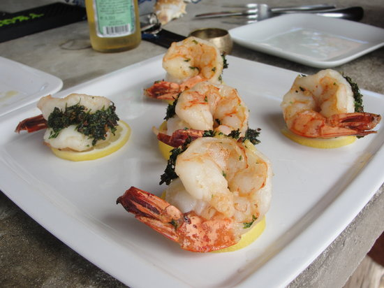The Beach House Restaurant and Tapas Bar: Parsely and Garlic Stuffed Shrimp