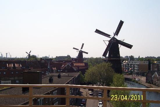 Schiedam Windmill : View from the windmill balcony