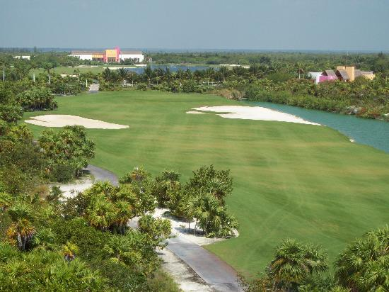 Excellence Playa Mujeres: Taken from lookout on the golf course