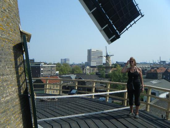 Schiedam Windmill: Close to the top