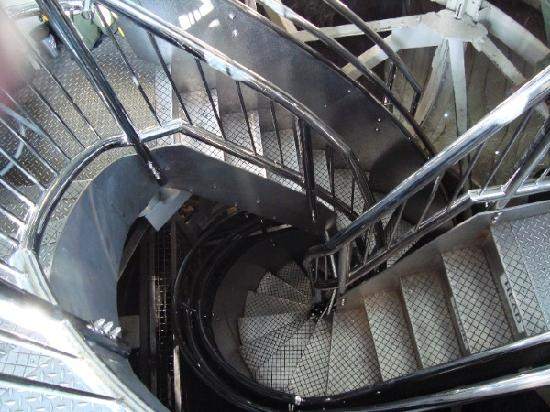 Statue of Liberty: View of the Spiral Staircases leading to the Crown