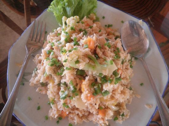 Otres Beach: fried rice with seafood