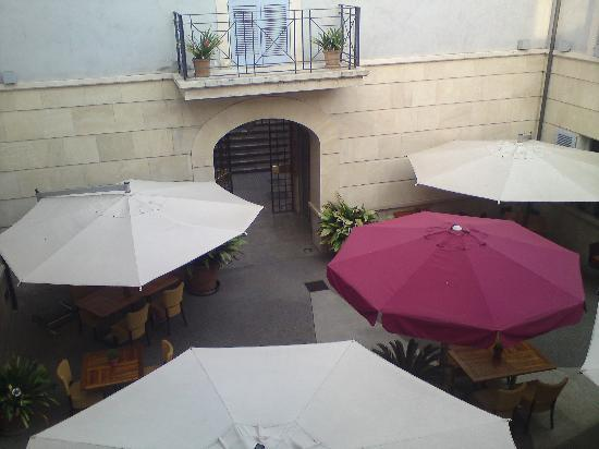 UR Mision: View from room overlooking courtyard