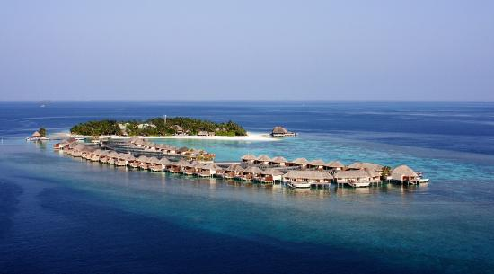 Aerial view of W Maldives