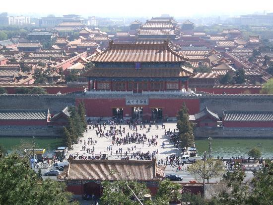 Shatan Hotel: View of Forbidden City from Jingshan Park