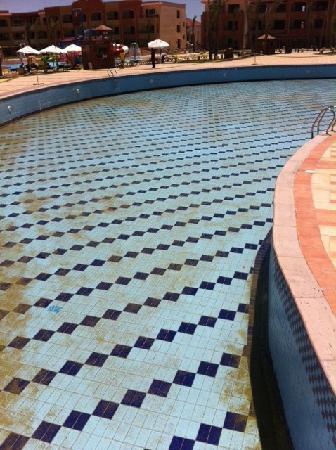 Regency Plaza Aqua Park & Spa Resort: scummy empty pool