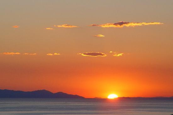Maroneia, Grecia: Sunset from hotel