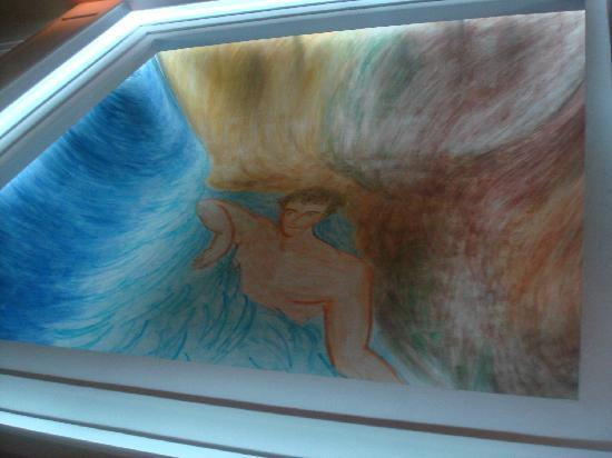 Hotel SERHS Rivoli Rambla: Mural on the cieling of the lobby